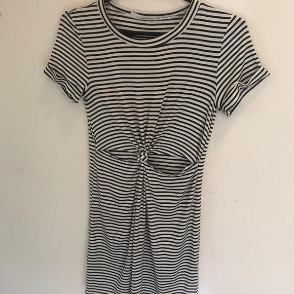 6d65b05c7d6 Honey Punch Dresses | Black White Striped Cut Out Dress | Poshmark